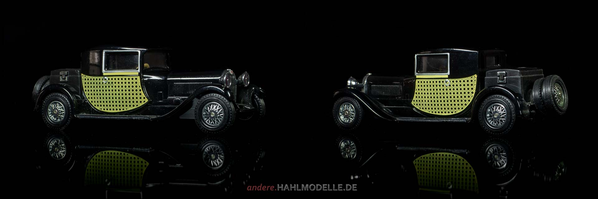 Bugatti Type 44 Fiacre (Gangloff) | Coupé | Matchbox | 1:43 | www.andere.hahlmodelle.de