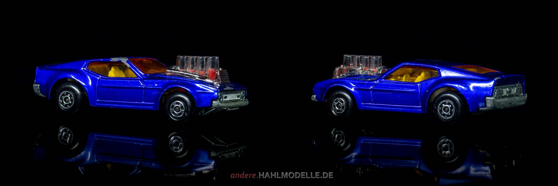 Ford Mustang I (4. Version) | Coupé | Lesney Products & Co. Ltd. | Matchbox Piston Popper | www.andere.hahlmodelle.de