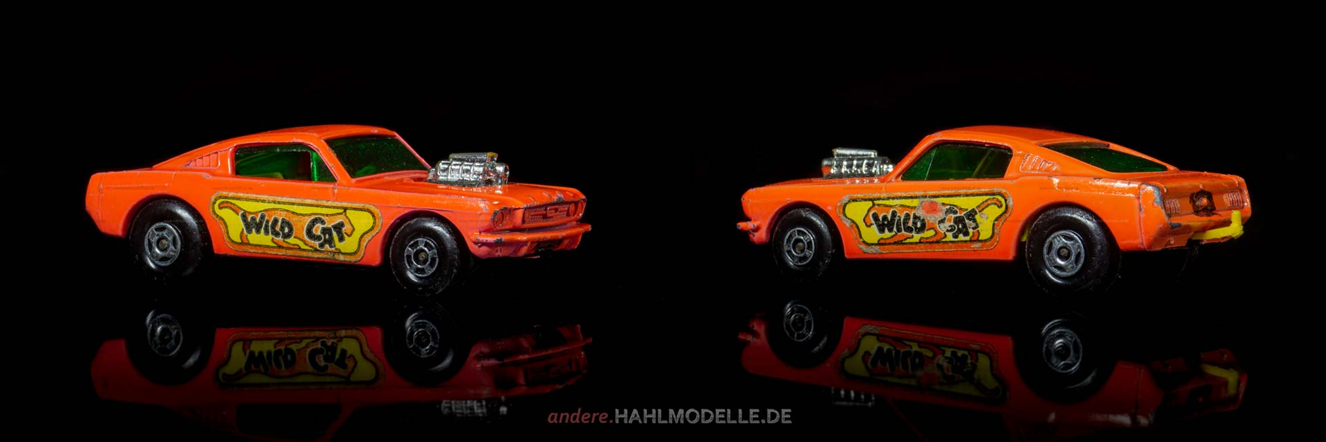 Ford Mustang I (1. Version) | Coupé | Lesney Products & Co. Ltd. | Matchbox Wildcat Dragster | www.andere.hahlmodelle.de