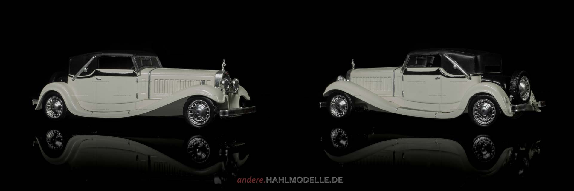 Bugatti Type 41 Royale | Cabriolet | Ixo (Del Prado Car Collection) | 1:43 | www.andere.hahlmodelle.de