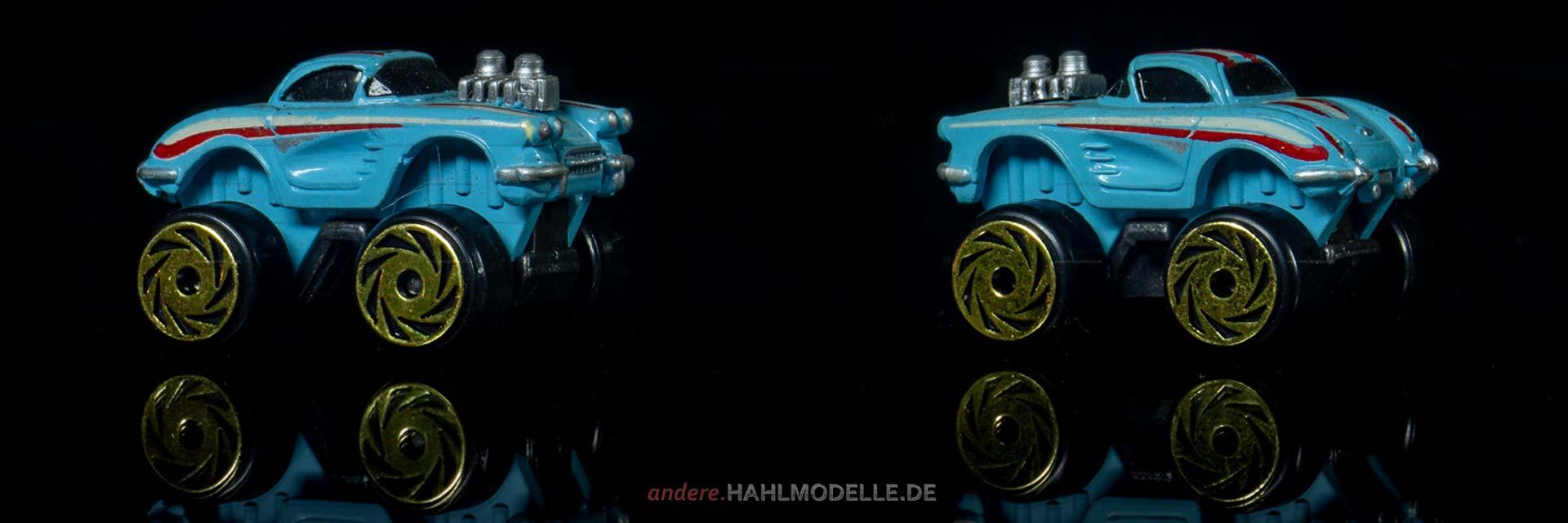 Chevrolet Corvette C1 | Roadster | Road Champs | ca. 1:150 | www.andere.hahlmodelle.de