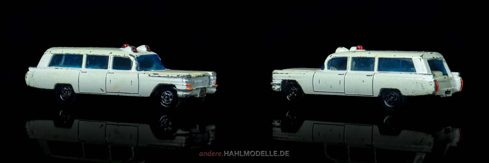 Cadillac Commercial Chassis Sayers and Scoville Ambulance | Kombi | Lesney Products & Co. Ltd. | Matchbox Superfast S&S Cadillac Ambulance | www.andere.hahlmodelle.de