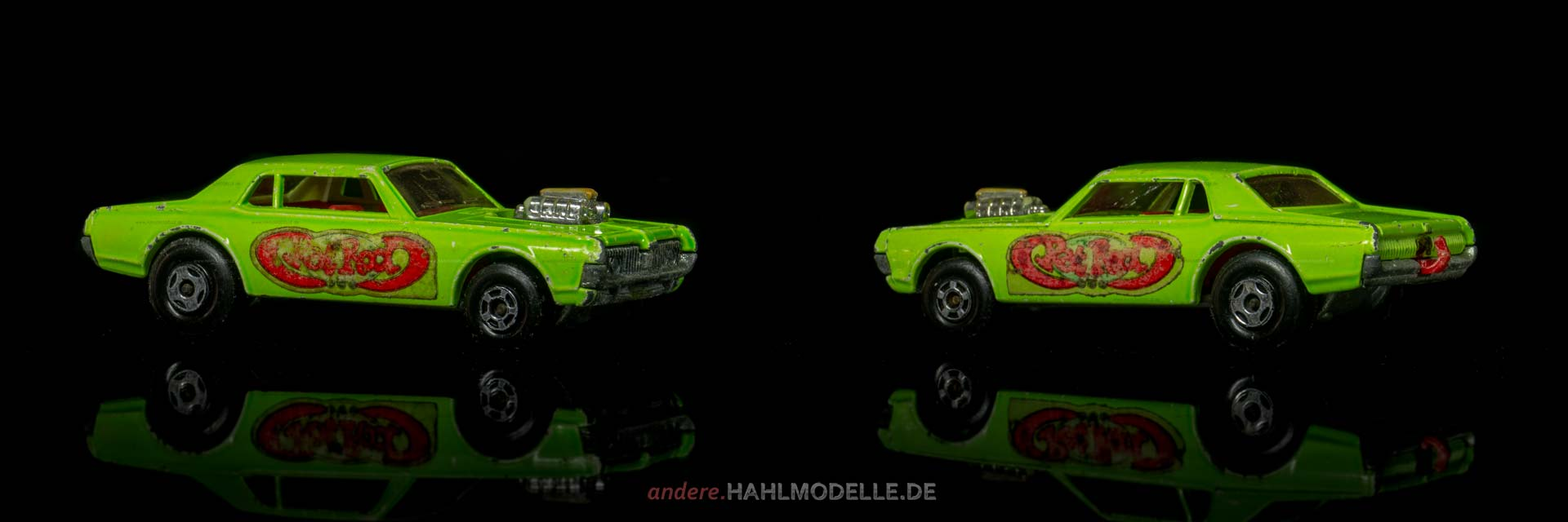 Mercury Cougar | Coupé | Lesney Products & Co. Ltd. | Matchbox Superfast Rat Rod Dragster | www.andere.hahlmodelle.de