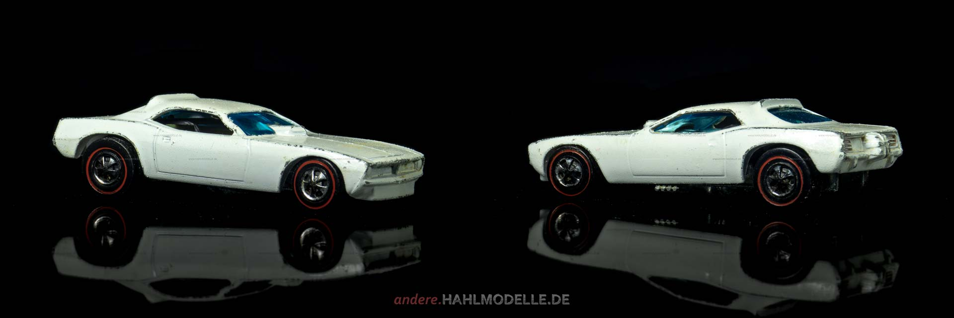 Plymouth Barracuda (3. Gen.) | Dragster | Mattel Inc. Hong Kong | Moongoose vs. Snake | 1:64 | www.andere.hahlmodelle.de