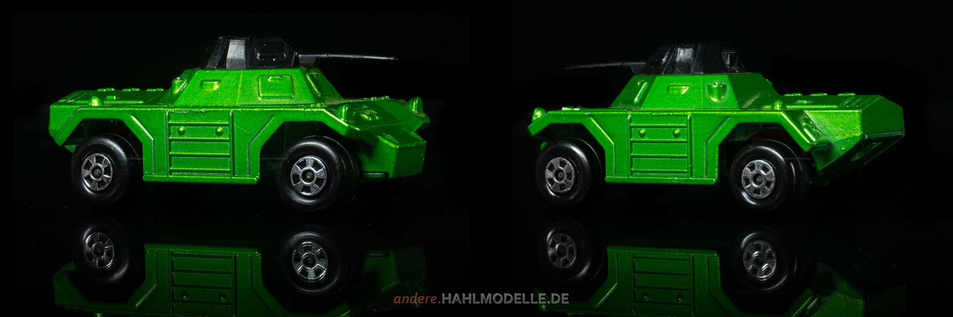 """Weasel"" | Panzer | Lesney Products & Co. Ltd. | Matchbox Rolamatics | 1:52 | www.andere.hahlmodelle.de"