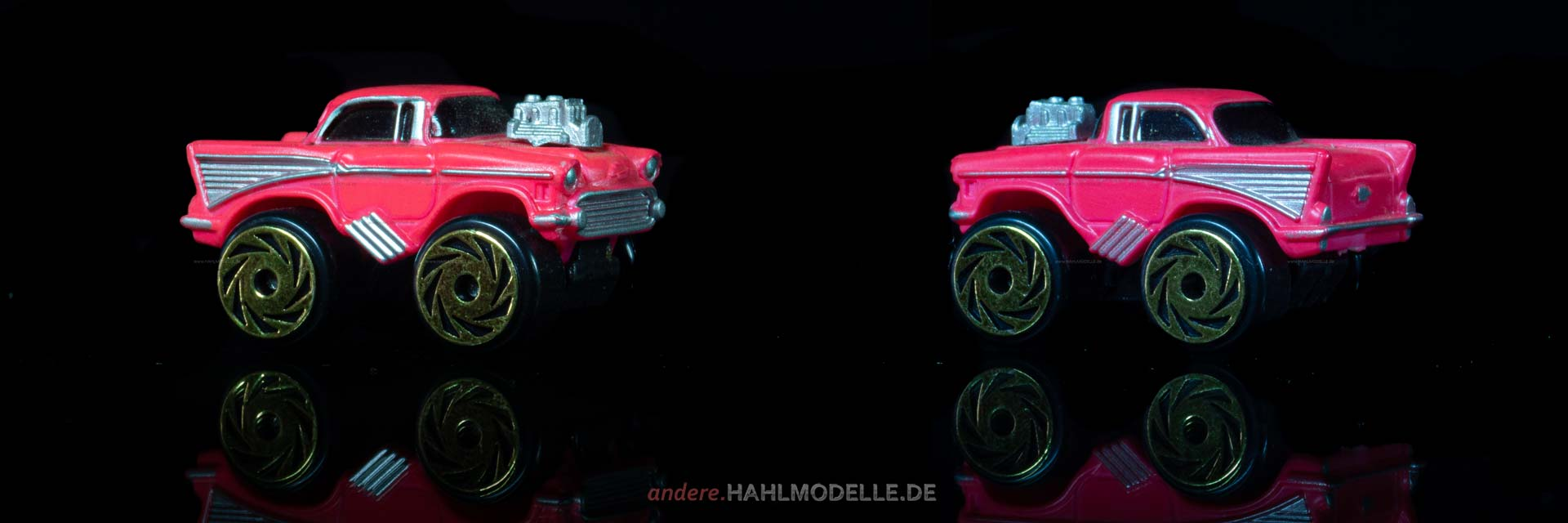 Chevrolet Bel Air Coupé | Dragster | Road Champs | ca. 1:160 | www.andere.hahlmodelle.de