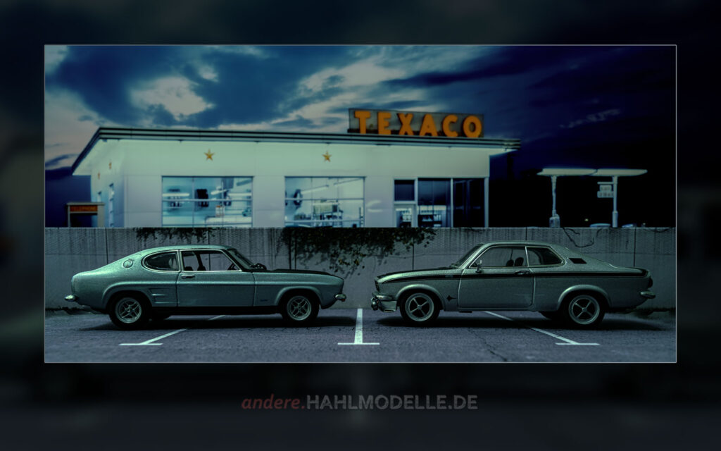 Ford Capri RS 2600 (Capri '69) und Opel Manta A GT/E
