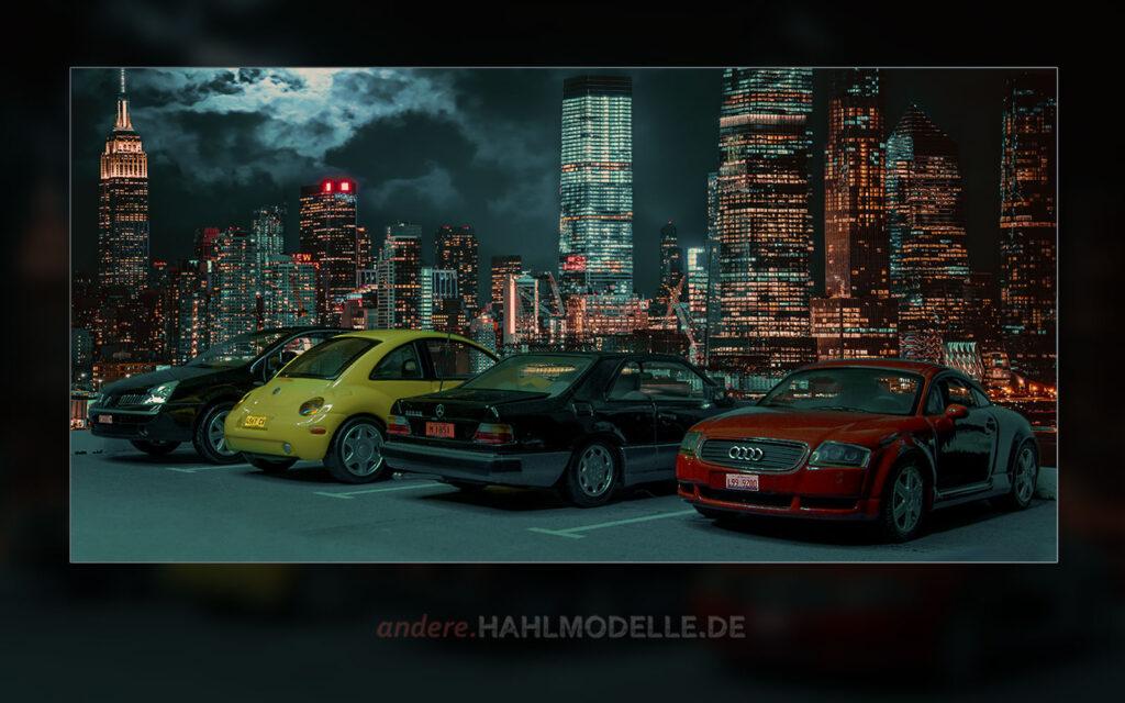 Renault VelSatis 3.5 V6 Initiale, Volkswagen Concept 1, Mercedes-Benz 320 CE (C 124) und Audi TT (8N)