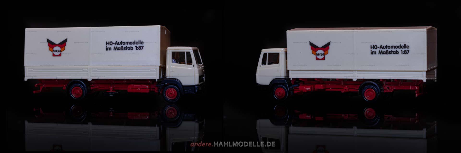 Mercedes-Benz LK 814 | LKW Pritsche/Plane | Herpa | 1:87 | www.andere.hahlmodelle.de