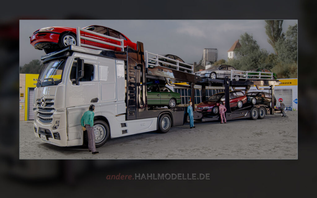 Mercedes-Benz Actros Autotransporter mit Opel Omega B