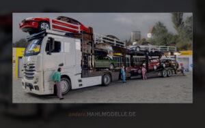 Mercedes-Benz Actros Autotransporter mit Opel Omega B