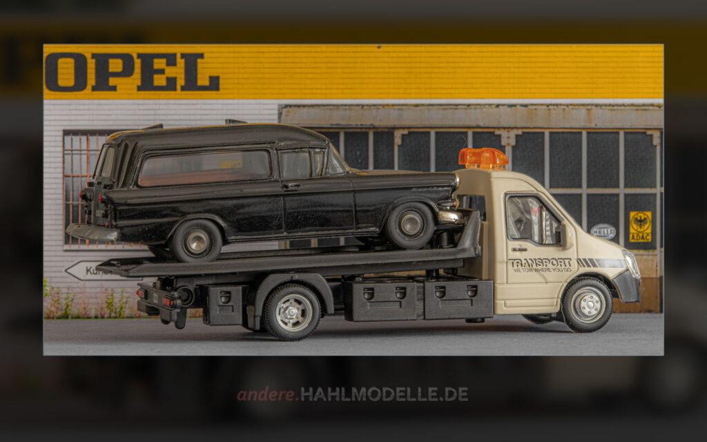 Iveco Daily V mit Opel Kapitän P 2,5 Leichenwagen