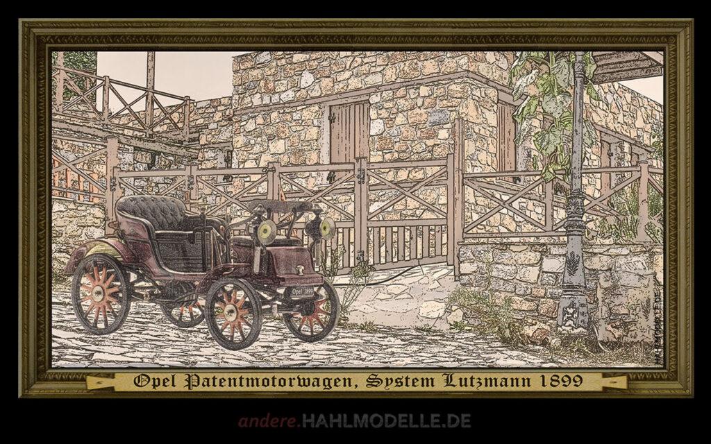 hahlmodelle.de | Automobildesign 1890-1899: Opel Patentmotorwagen System Lutzmann