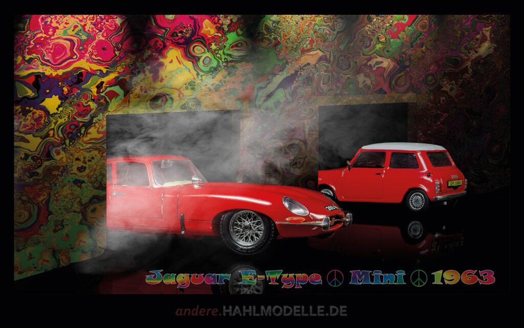 hahlmodelle.de | Automobildesign 1960-1969: Jaguar E-Type, Coupé und BMC Mini Cooper, Kleinwagen