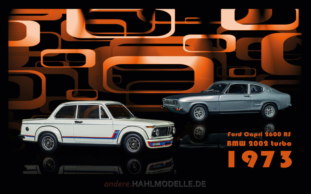 hahlmodelle.de | Automobildesign 1970-1979: BMW 2002 turbo (E20), Limousine und Ford Capri RS 2600 (Capri '69), Coupé